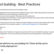 Bot building - Best Practices