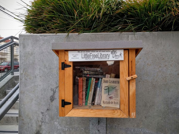 The Little Free Library of Leadership High School, San Francisco, thanks to Extras subscriber Michele.