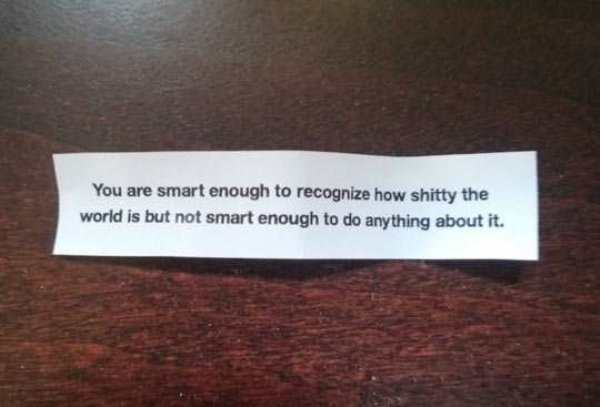 Fortune cookies have sharp elbows these days.