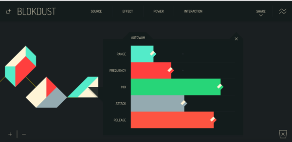 An in-browser visual music maker