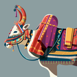 Decorative bull by ranganath krishnamani