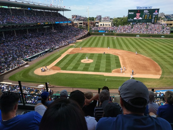 First game at Wrigley this past weekend. Cubs fans are great. (Too bad the Giants choked, again.)