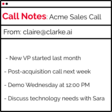 clarke.ai - Note-taking personal assistant for conference calls