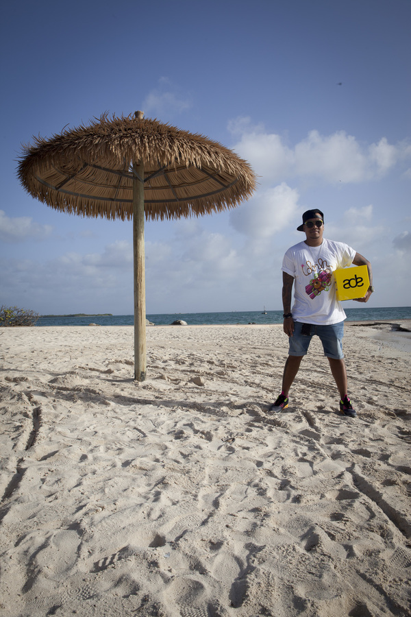 Chuckie on Aruba, during ADE Global Sessions