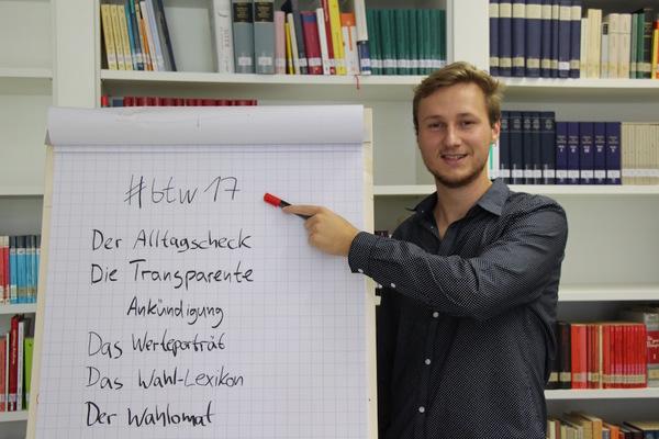 In einem Jahr ist schon Bundestagswahl - Niels Bula hat Formatideen dokumentiert: