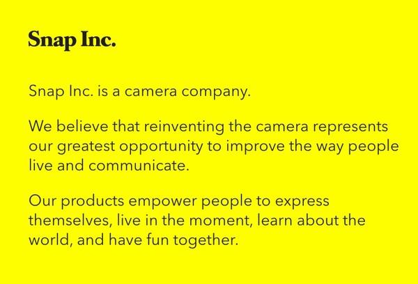 Das neue Mission Statement von Snap Inc.