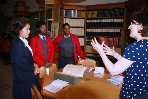 Freemen's and CoLA Hackney students in Eton College library
