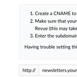How to set up a custom domain on Revue