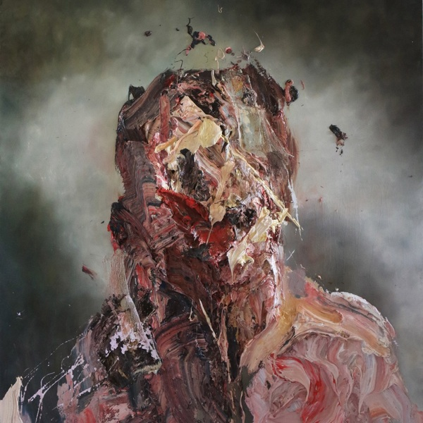 Self portrait in green by Antony Micallef