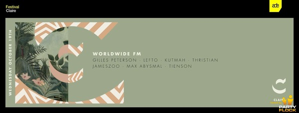 At ADE in Amsterdam this wednesday alongside my Worldwide FM family, hope to see you at Claire.