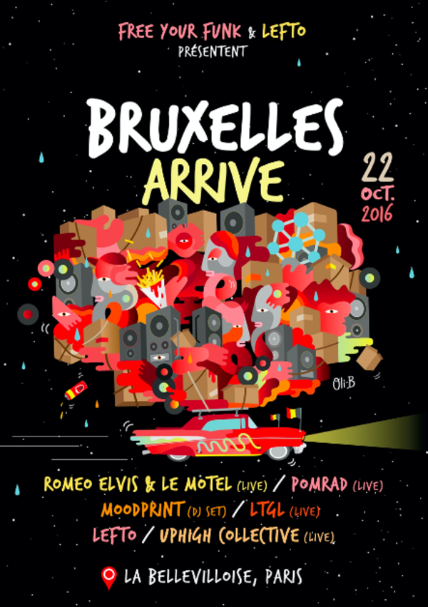 This saturday at La Bellevilloise in Paris, bringing some of the best artists Belgium has to offer.