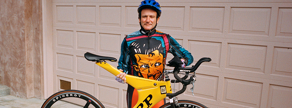 The lesser-known sides of Robin Williams—the athlete, the bike nerd, the activist—were all tied to his love of cycling.