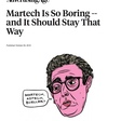 An open letter to the editor of AdAge on boring martech - Chief Marketing Technologist