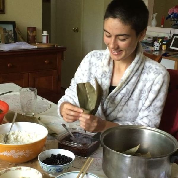 Throwback to the Rice Cake Festival, making Chinese Rice Cakes with my Mom :)