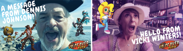 (custom video thumbnails for The Voice Over Show)