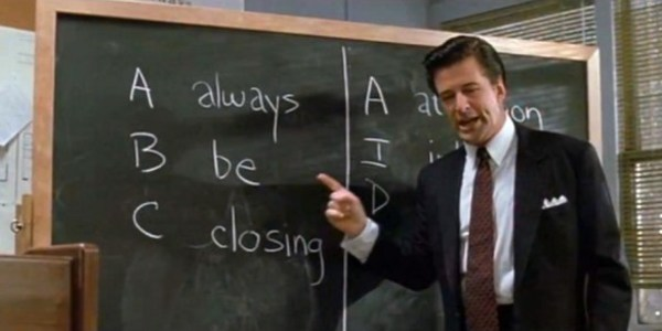 Scene from Glengarry Glen Ross... not sure if this will help or hurt our recruiting