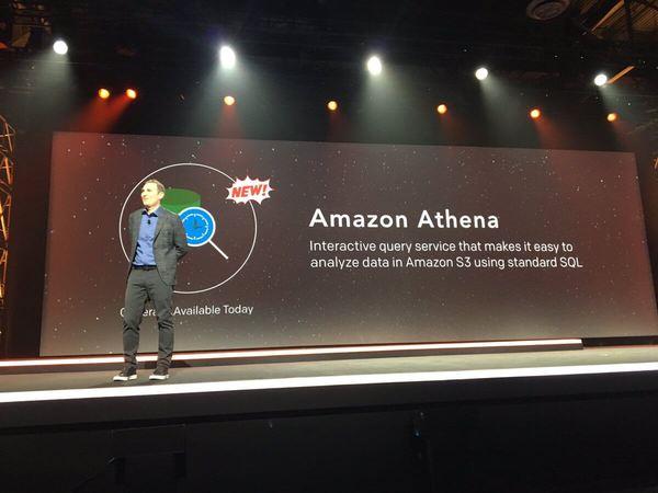Amazon AWS Andy Jassy announcing Amazon Athena