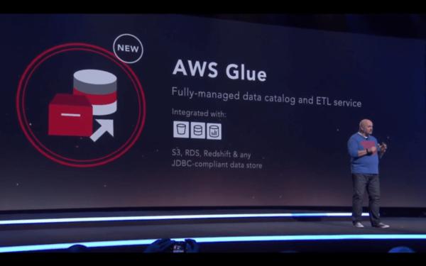 Amazon AWS CTO Werner Vogels announcing AWS Glue