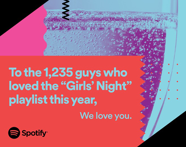 """☞ Klick auf das Bild führt direkt zur """"Girls Night""""-Playlist auf Spotify 😉"""