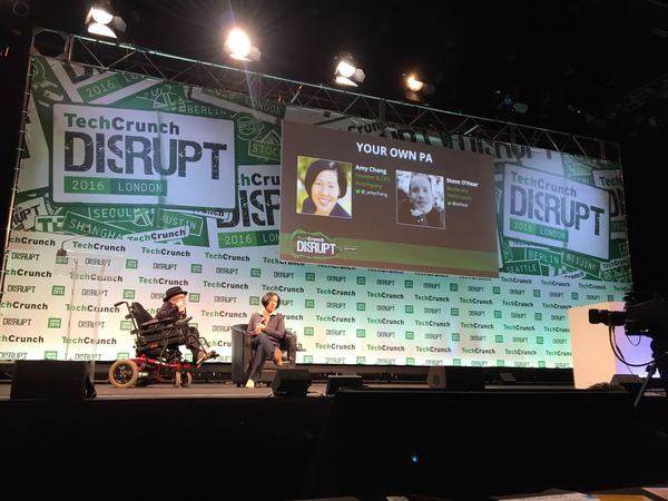 The Disrupt London stage is huge