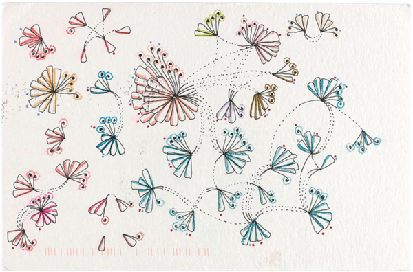 """A Week of Laughter"" from Dear Data, a project in data as art. Beautiful."