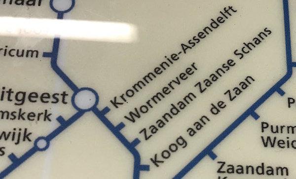 Foutje NS: Zaandam Zaanse Schans bestaat niet (klik op foto voor verhaal)