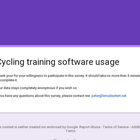 Cycling training software usage
