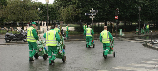 Ever seen the garbage collectors of Paris? They don't rumble.