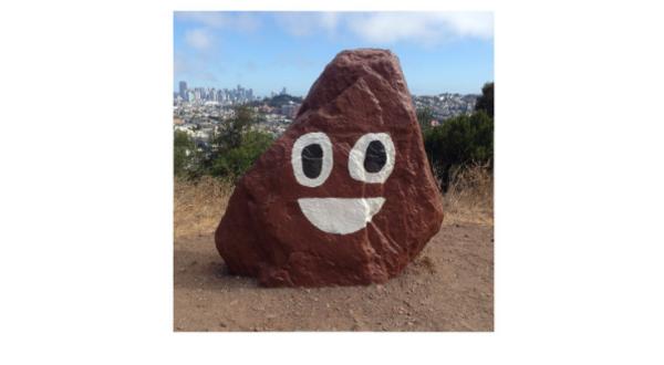 Bernal Hill rock. Representing...friendly garbage?
