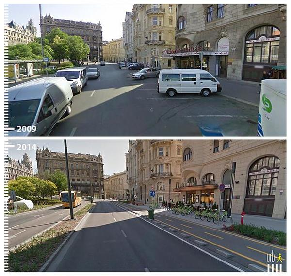 Website catalogues Google StreetView images before and after cycle improvements