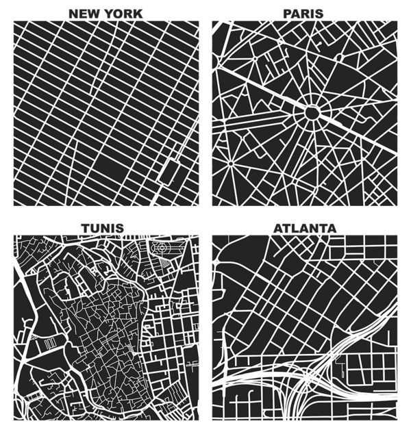 Square-Mile Street Network Visualisation, by Geoff Boeing