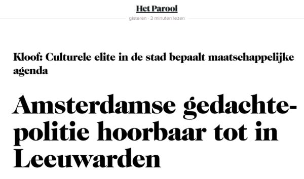 Gedachte-wat? En wat is er met Leeuwarden?