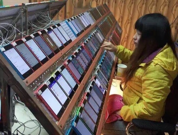 A chinese clickfarmer boosting free apps on App Store?!