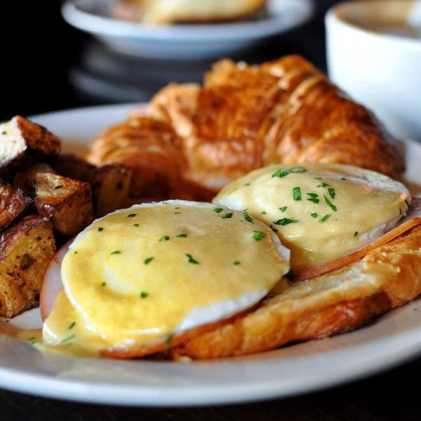 """Eggs Benedict Croissan-wich"" by Kings Road Cafe (@kateatsla)"