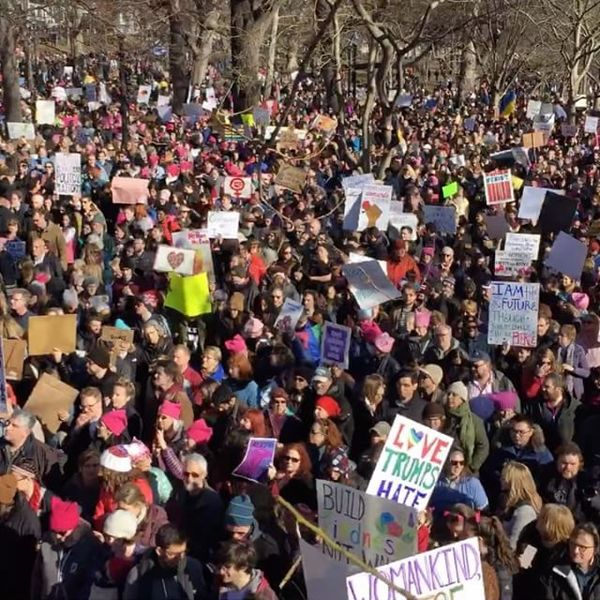 Timelapse of the Boston Common #WomensMarch