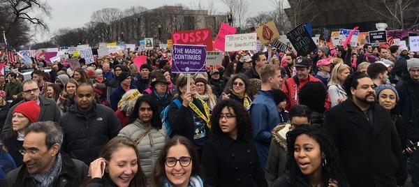 De Women's March on Washington van afgelopen zaterdag (foto: AVDH)