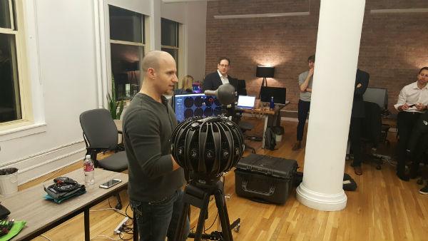 Mike Nichols (AbelCine) talking tech at VR360 Night