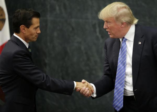 De Mexicaanse president Enrique Peña Nieto en president Donald Trump.
