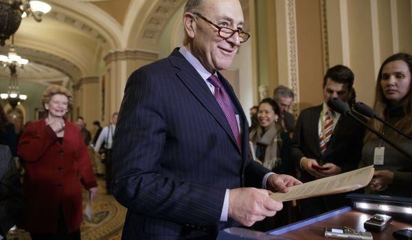 Democratische Senaatsleider Schumer wil de filibuster tegen Gorsuch gebruiken.