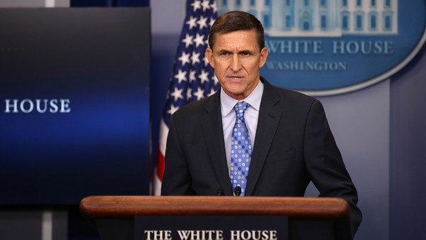 """Nationale Veiligheidsadviseur Flynn: """"We are officially putting Iran on notice."""" (RTR)"""