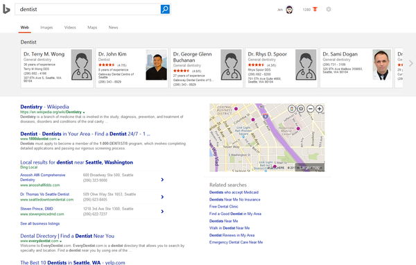 Bing Testing Business Cards Like Local Carousels