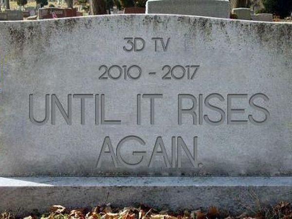 3D TV finally falls down dead
