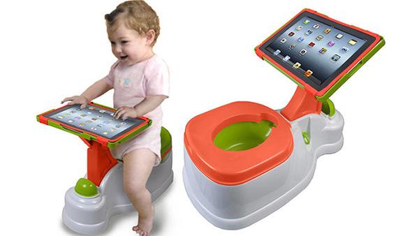 De Ipad-potty...onmisbaar voor een goede start van de opvoeding
