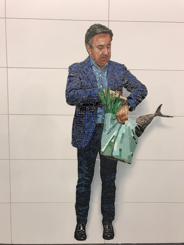 "I recognize this ""random New Yorker"" - Chef Daniel Boulud."