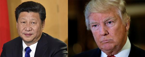 Trump sprak afgelopen nacht met de Chinese president Xi Jinping (foto: reuters)
