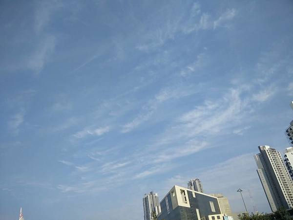 """Blue skies after a long time in Gurgaon"""