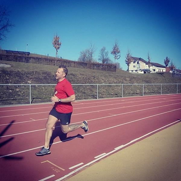 Interval Training near Pfäffikon, Switzerland on a mild February day