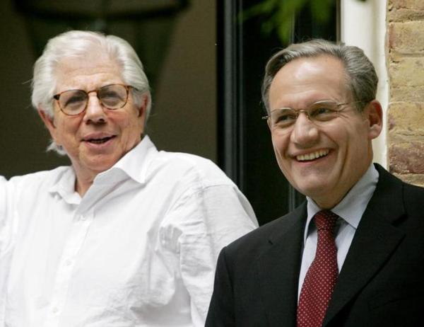 Berstein en Woodward hielden dertig jaar lang de identiteit van Deep Throat geheim (foto: Reuters)