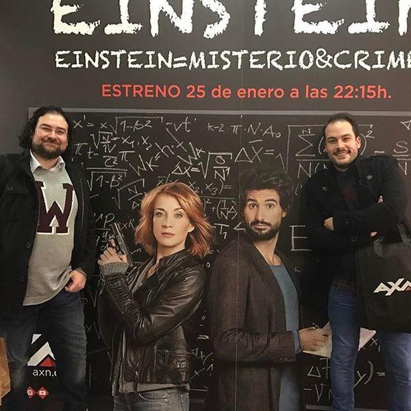 En la Presentación de Einstein de AXN en Madrid (Instagram)