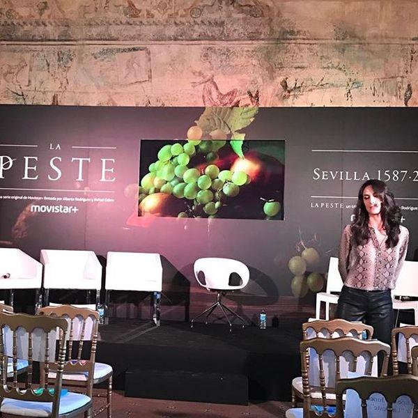 En la Presentación de La Peste de Movistar+ en Sevilla (Instagram)